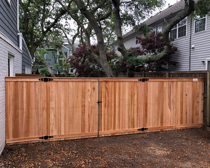 6' Privacy Cedar with Clear Posts
